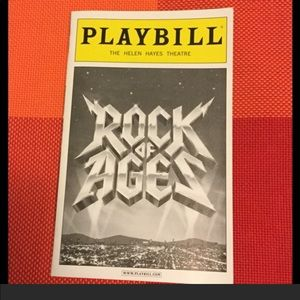 🎭 ROCK OF AGES Broadway Playbill